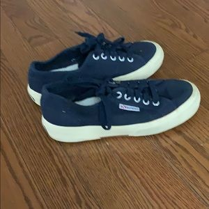 Navy blue Superga sneakers size 6